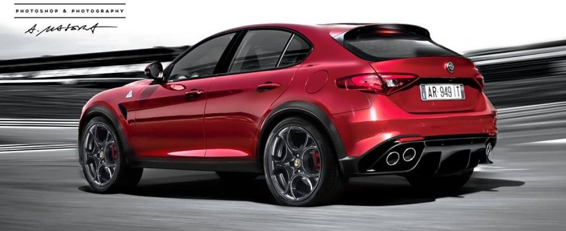 Render Alfe Romeo 949, novog SUV-a
