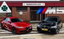 VIDEO: BMW M5 vs Giulia Quadrifoglio na autobahnu