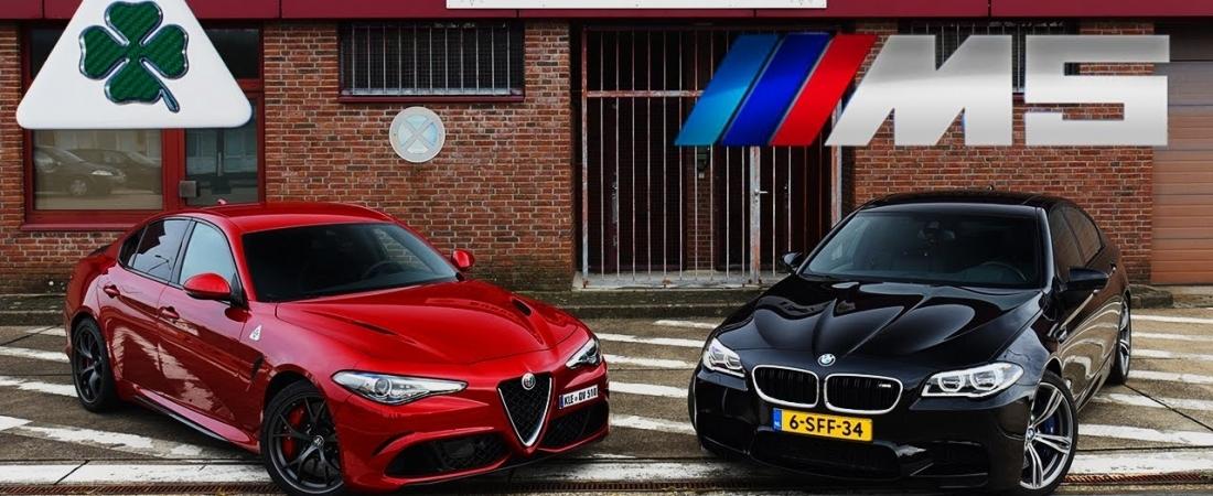 VIDEO: BMW M5 vs Giulia Quadrifoglio na autobahnu
