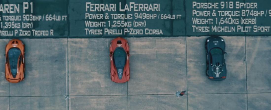 Utrka tri najbolja superautomobila današnjice